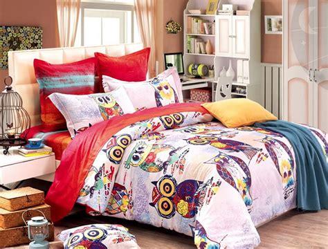 owl bedding set colorful mart owl duvet cover set owl bedding set