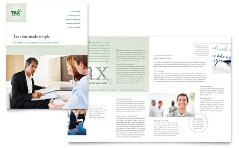 accounting amp tax services brochure template word amp publisher