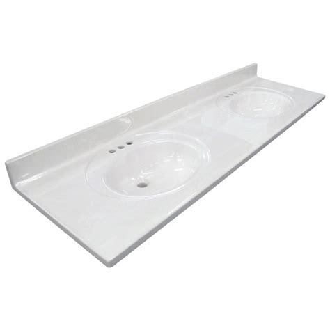 bathroom sink vanity top shop us marble ambassador 101 white on white cultured