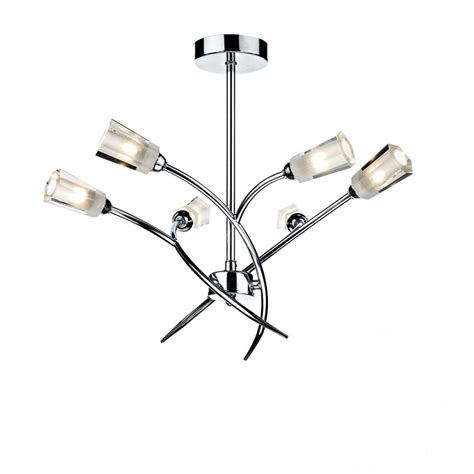 lewis ceiling light fittings dar lighting lewis lew0650 polished chrome 6 light semi