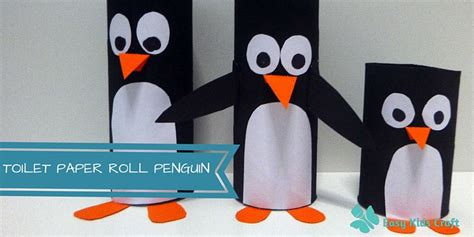 penguin toilet paper roll craft how to make a toilet paper roll penguin