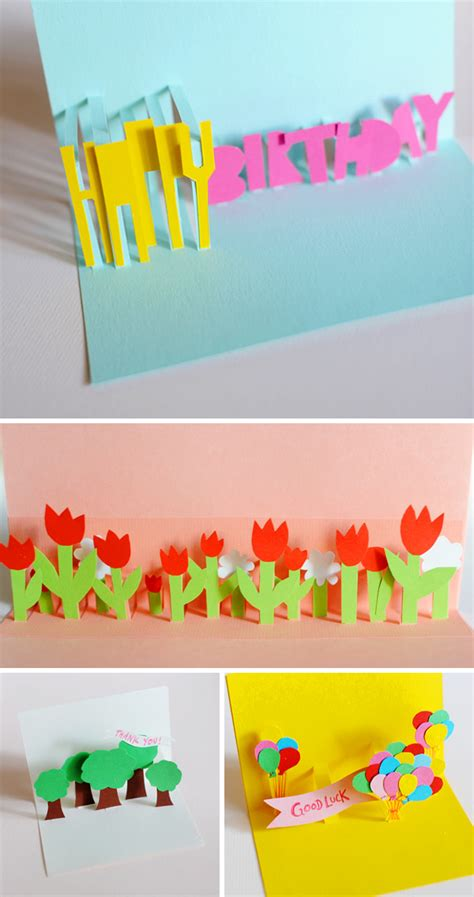 how to make handmade pop up greeting cards send a sweet note with one of these handmade pop up