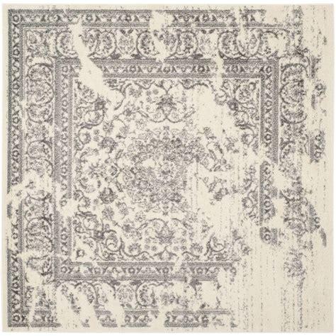 6 square area rug safavieh adirondack ivory silver 6 ft x 6 ft square area