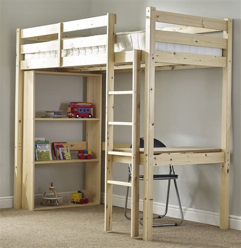 3ft bunk beds icarus 3ft single length work station bunkbed with
