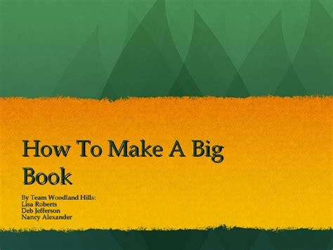 how to make picture books how to make a big book