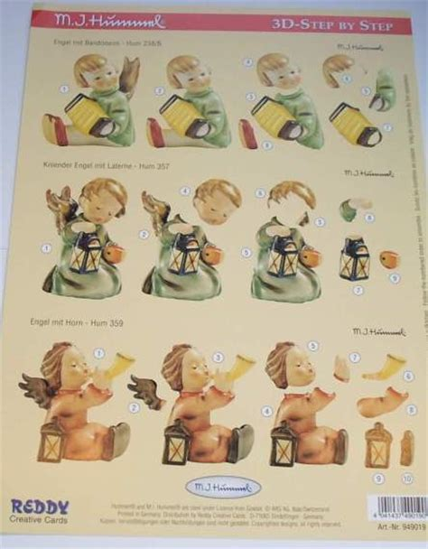 decoupage step by step foil play a4 step by step 3d hummel decoupage figures