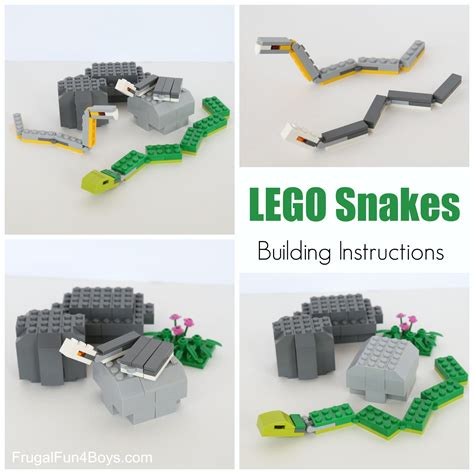 how to make a snake out of slithering snakes lego building frugal