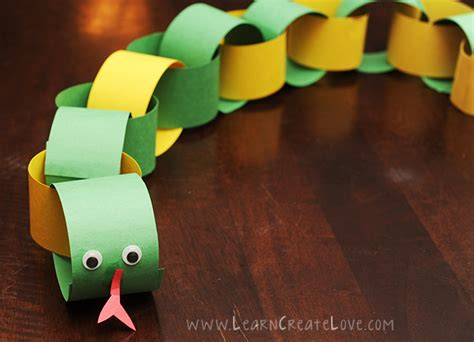 Paper Chain Snake Craft Animals Crafs