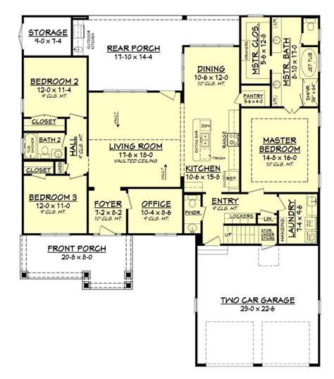 craftsman home floor plans 17 best ideas about open floor plan homes on