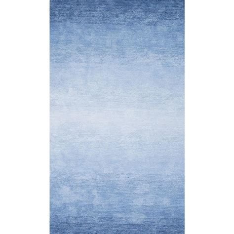 blue and area rug nuloom ombre bernetta blue 5 ft x 8 ft area rug awve18b