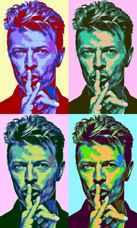 leinwand bild xxl pop art david bowie pop star kult musik