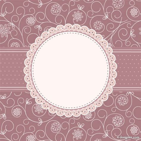 pattern card 4 designer classic pattern card vector material 03