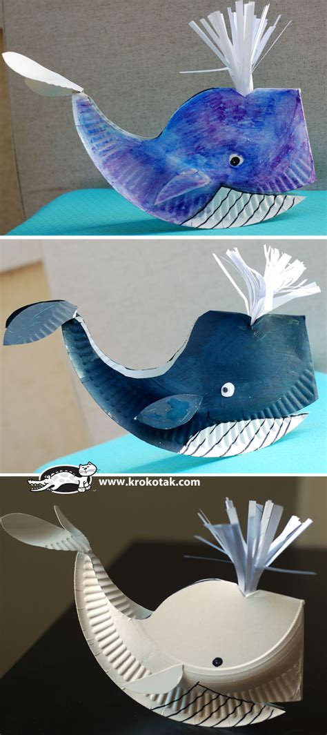 whale crafts for paper plate whale crafts