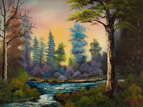 bob ross painting a waterfall bob ross waterfall paintings bob ross