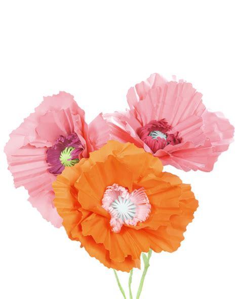 martha stewart crafts paper flowers paper poppy flower decoration martha stewart