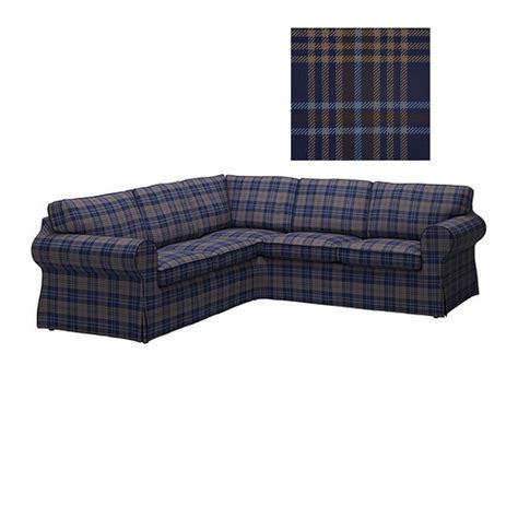 corner sofa slipcover ikea ektorp 2 2 corner sofa cover slipcover rutna multi