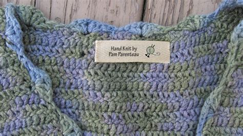 personalized knitting labels personalized knitting labels of yarn with needles