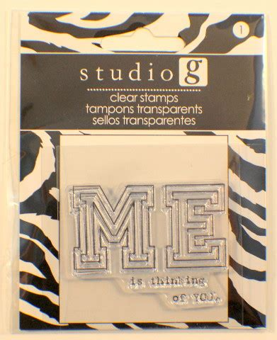 studio g rubber sts studio g me is thinking of you cling clear rubber st