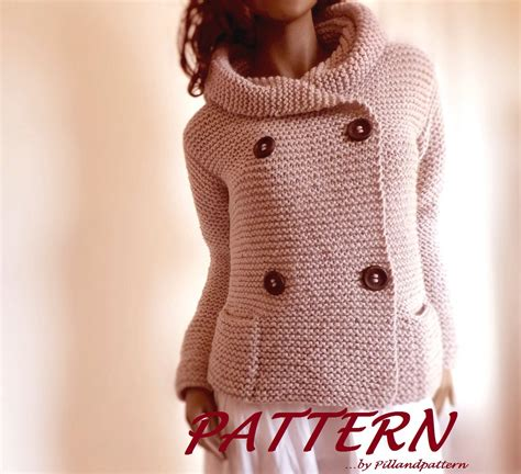 easy knitting pattern for coat knitting pattern hooded womens jacket sweater easy knit