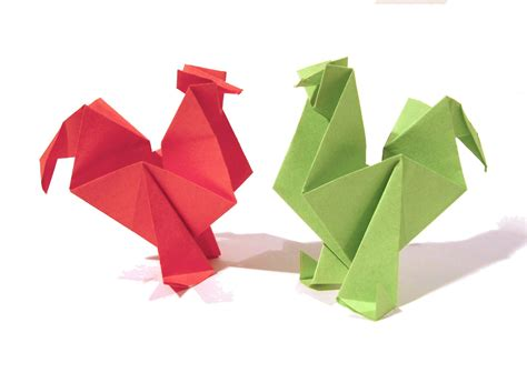 origami with pictures easter origami rooster hen tutorial how to make an