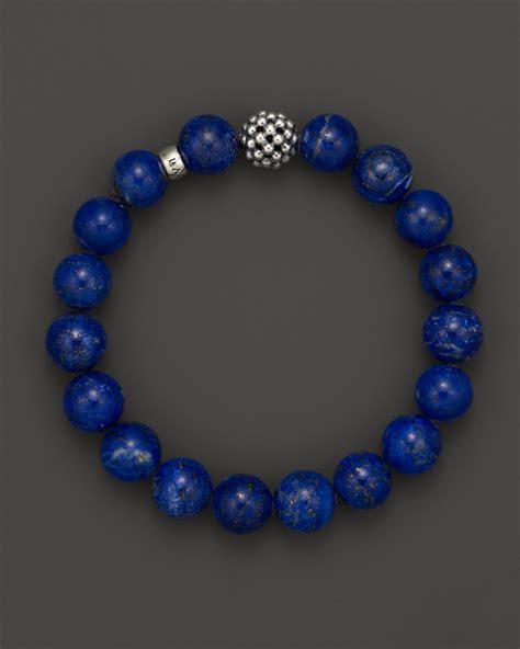 blue beaded bracelet lagos lapis caviar beaded bracelet in blue lyst