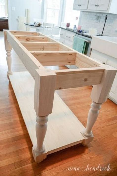 how do you build a kitchen island 15 easy diy kitchen islands that you can build on a budget