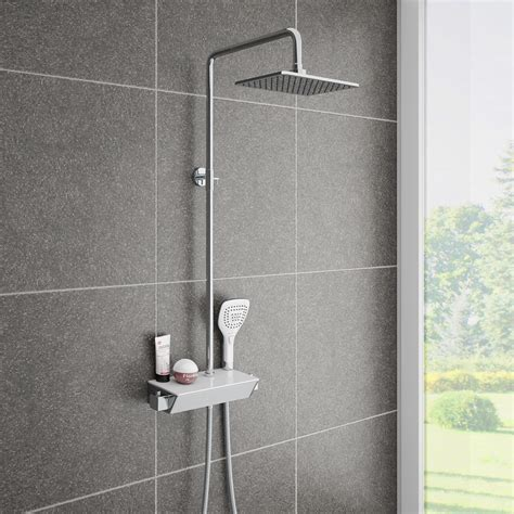 Walk In Baths And Showers neo modern thermostatic shower with shelf victorian