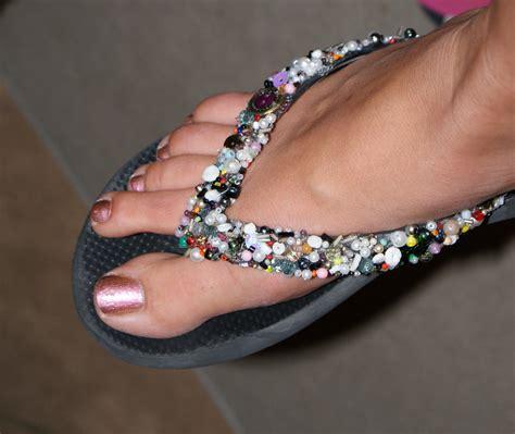 diy beaded flip flops do it yourself beaded flip flops drama seams