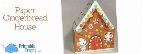 gingerbread house paper craft paper archives printable treats