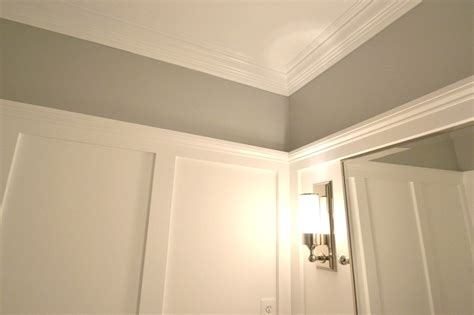 wall molding remodelaholic powder room transformed with molding on walls