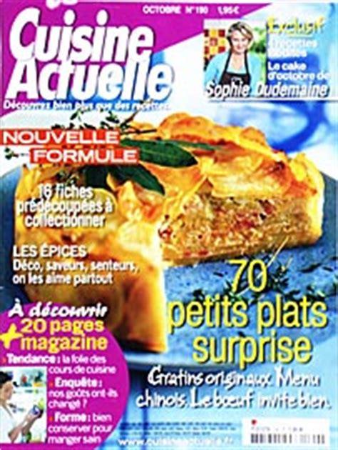 abonnement cuisine actuelle magazine journal et revue cuisine actuelle pas cher