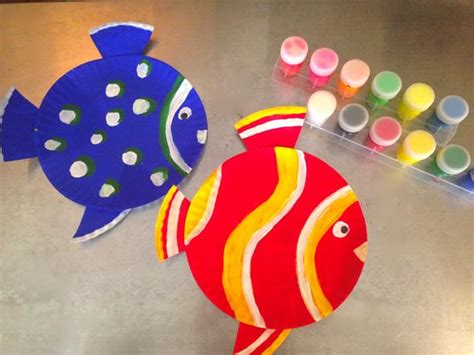 paper plate fish craft sea crafts for how to make paper plate fish