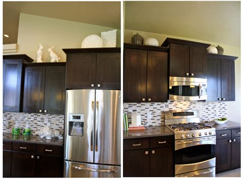 kitchen cabinet decorations how to decorate above kitchen cabinets shaweetnails