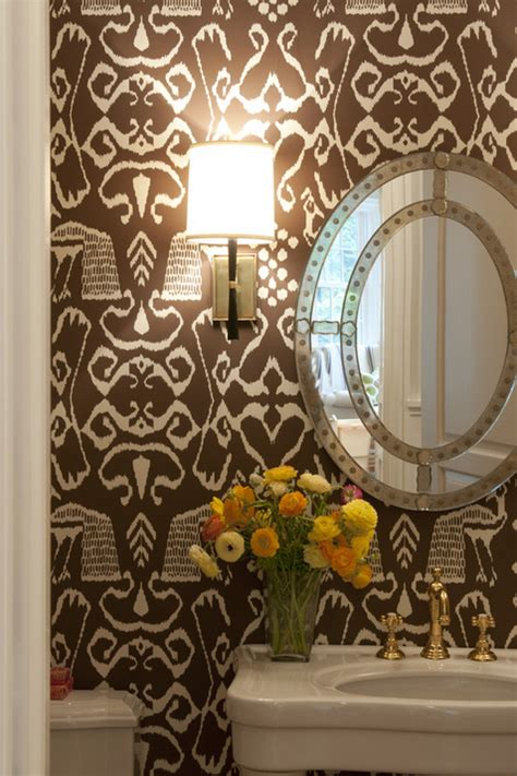 wallpaper for powder room designer powder room with wallpaper simplified bee