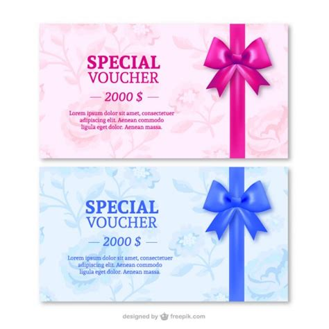 gift specials special gift cards with ribbons vector free