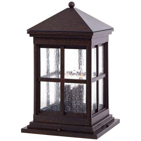 solar column lights outdoor berkeley column mount exterior light minka lavery pier