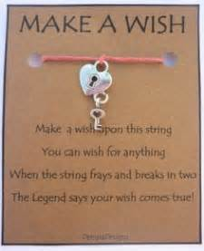 make wish charity cards wish bracelets make a wish and poem on
