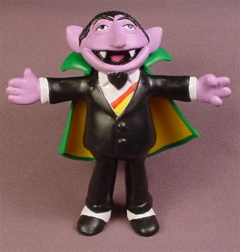 rubber sts sesame sesame 1996 the count rubber figure with bendable