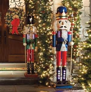 decorations nutcracker lighted nutcrackers frontgate outdoor