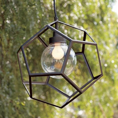 outdoor hanging pendant lights polyhedron pendant contemporary outdoor hanging lights