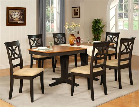 dining room table 6 chairs 7pc dinette dining room table w 6 microfiber padded