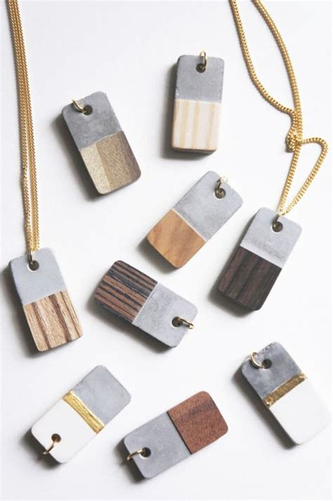how to make concrete jewelry 25 unique wood necklace ideas on