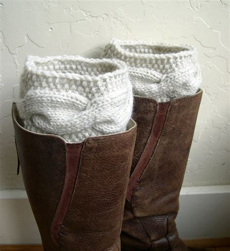 knit leg warmers for boots boot cuffs beige leg warmers cable knit by marykcreation