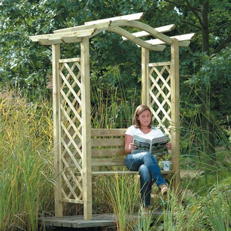 Garden Arch And Bench Arches Arbours Garden Furniture In Hertfordshire
