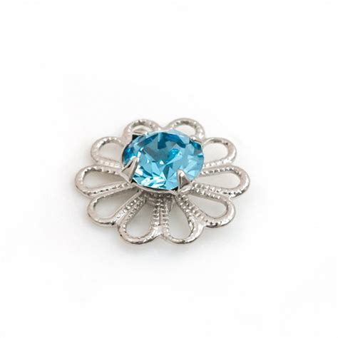 swarovski jewelry supplies swarovski 62020 aquamarine rhodium plated filigree