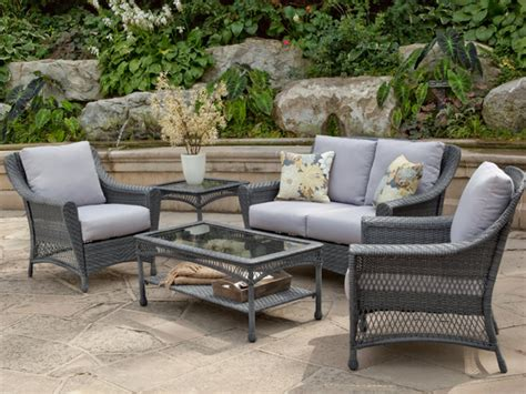 gray patio furniture sets win a wicker furniture set from hayneedle hgtv design design happens