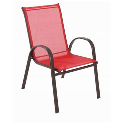 home depot patio chairs navona sling patio chair fcs00015j the home depot
