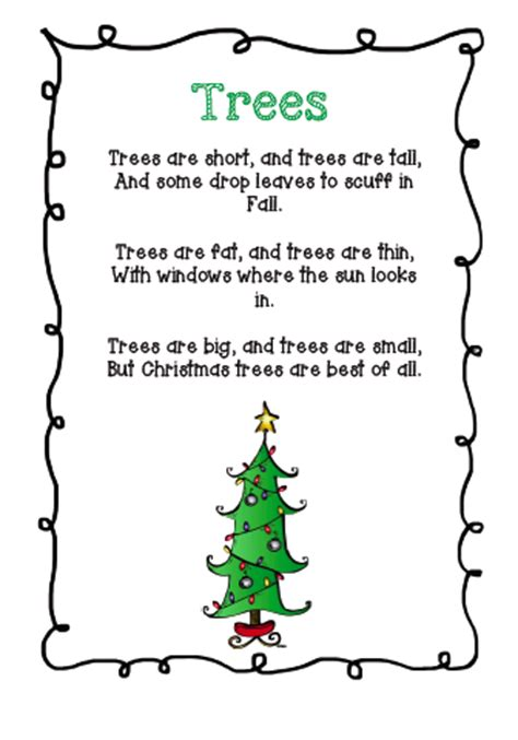 tree poems preschool the busy classroom free poem about trees