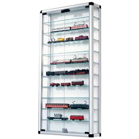 pureday vitrine pour collection en aluminium et verre avec fermeture 224 cl 233 60 x 120 cm achat