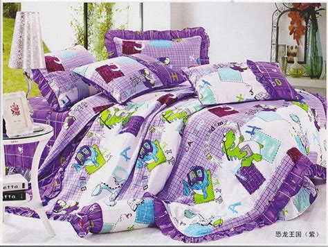 barney toddler bedding set dinosaur kingdom purple dinosaur bedding set